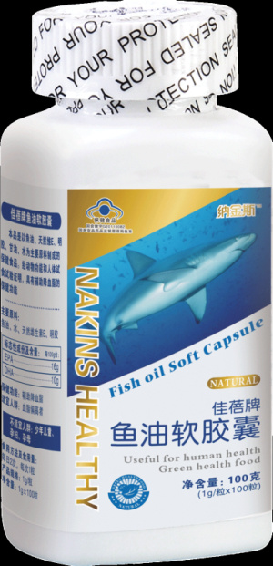 Fish Oil Soft Capsules, Natural Health Care Product