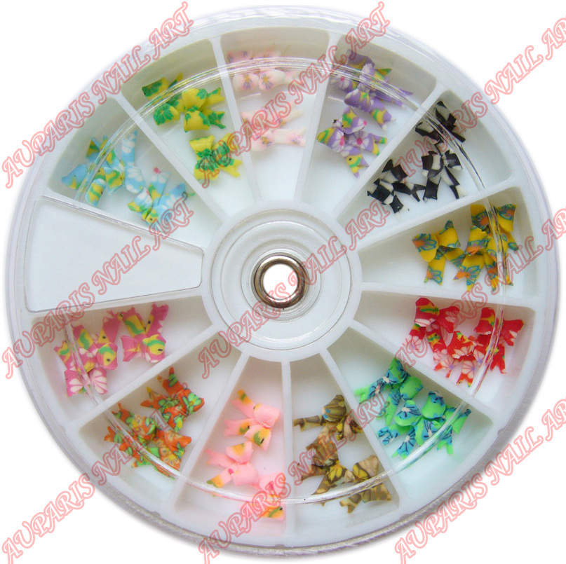 China 3D Fimo Bowknot Professional Nail Art Accessories