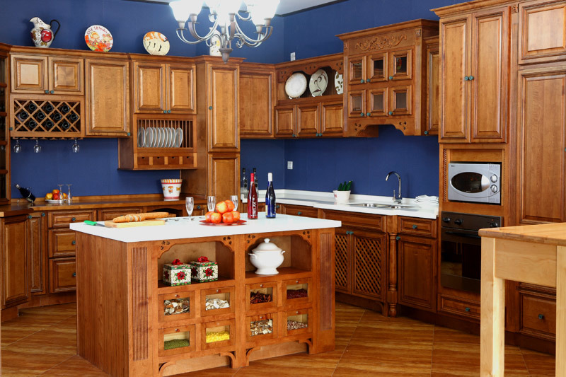 Kitchen Cabinet Showroom Coffee Glaze Maple