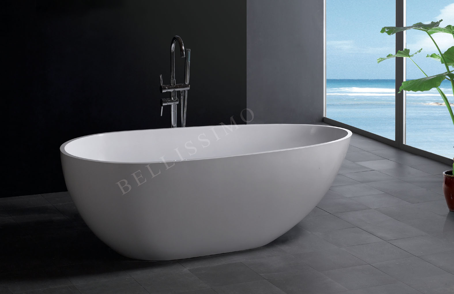 China Stone Bathtub Bs 8608 China Bathtub Acrylic Bathtub