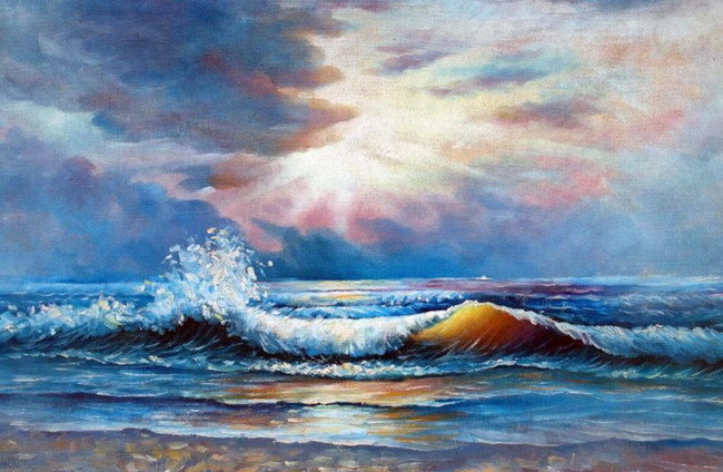 Peinture l 39 huile de paysage marin d 39 impression peinture Peinture impression