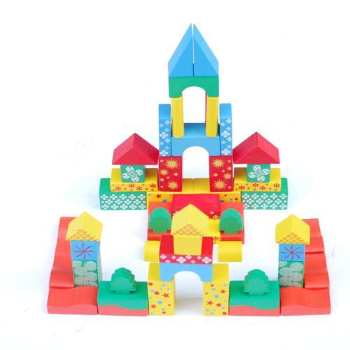 The Castle Wood Block (MX194) - China Wood Toy, Wooden Block
