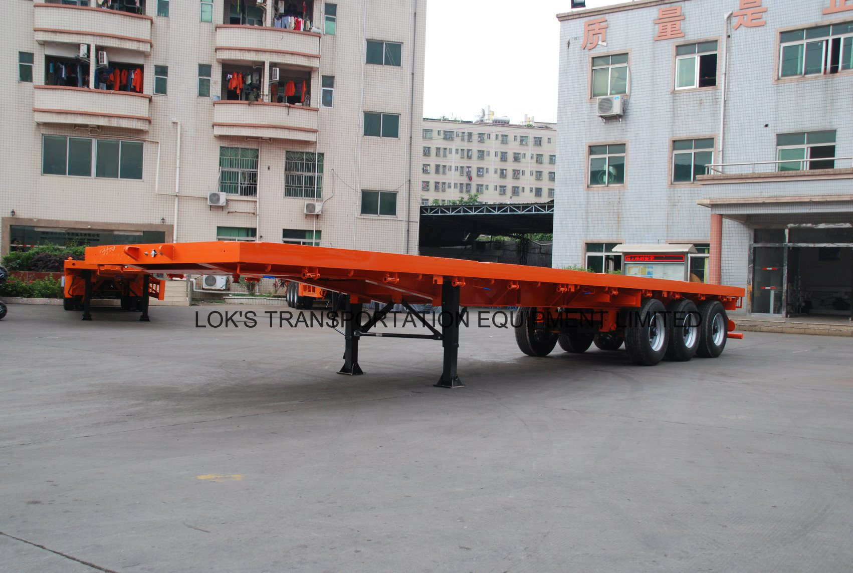 3axles Flatbed Semi Trailer