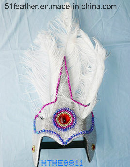 Handmade Orstrich/Turkry Feather Indian Headdress