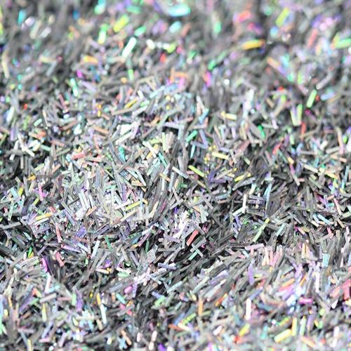 Strip Holographic Silver Glitter