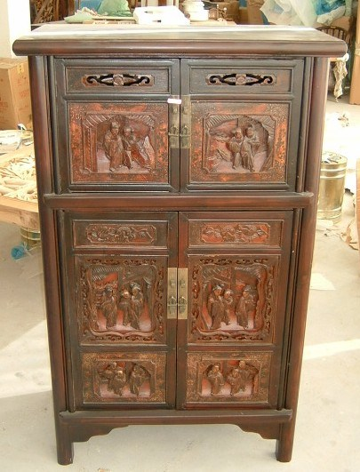 Chinese antique furniture 4 doors cabinet chinese for Old asian furniture