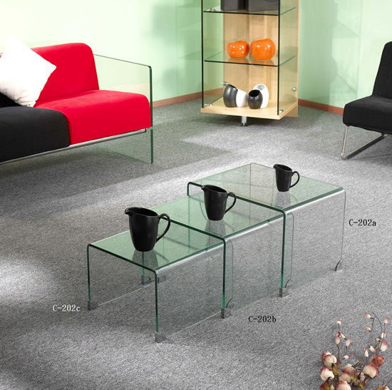 glass side table. Glass Furniture-Glass Side