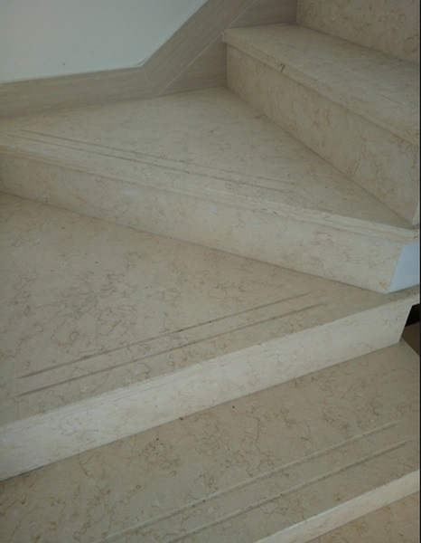 Hot Sell Natural Marble Staircase Stone Crema Marfil Marble Stair