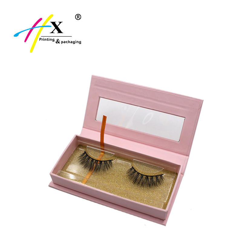 Custom Magnet Lid False Eyelash Packaging Box with Window