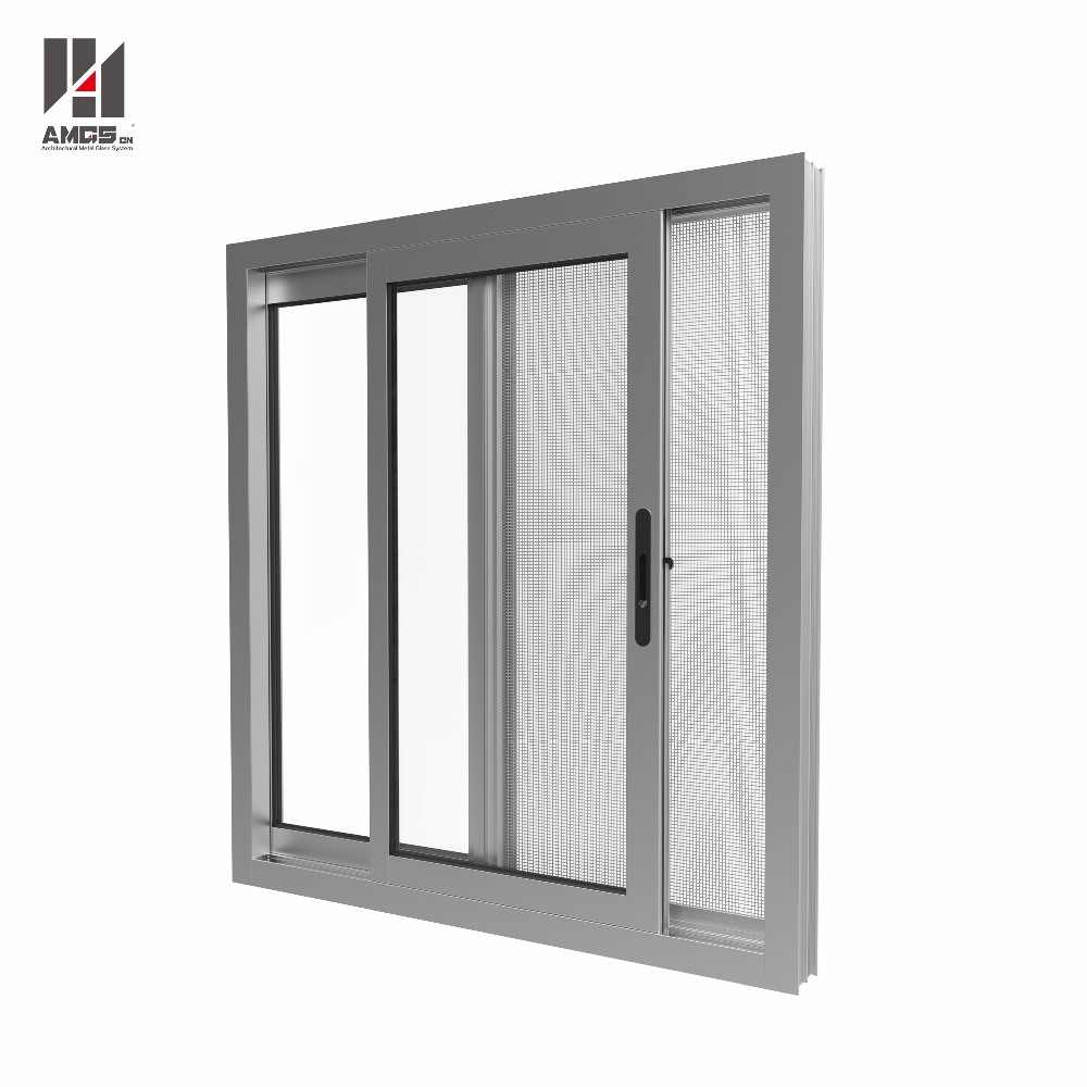 Customized Aluminum Glass Window with Double Glazing and Mosquito Net