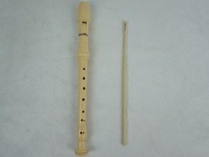 8-Holes Soprano Ivory Colour Baroque Plastic Recorder