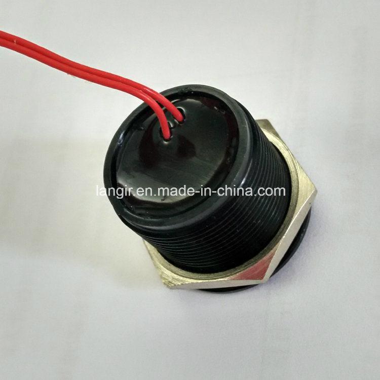 25mm IP68 Waterproof Momentary Black Piezo Switch