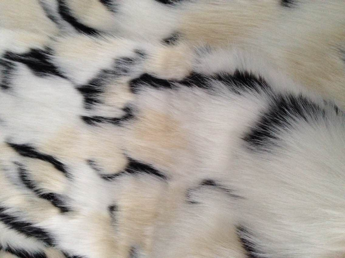 Jacquard Fabric, Fake Fur, High Plush