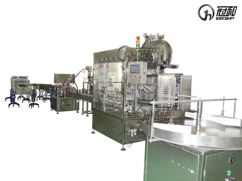 Automatic Liquid Filling Production Line with Bottle Filling and Capping