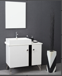 European Style Acrylic Solid Surface Bathroom Cabinet