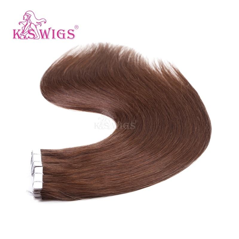K. S Wigs Virgin Remy European Human Hair Tape Hair Extension