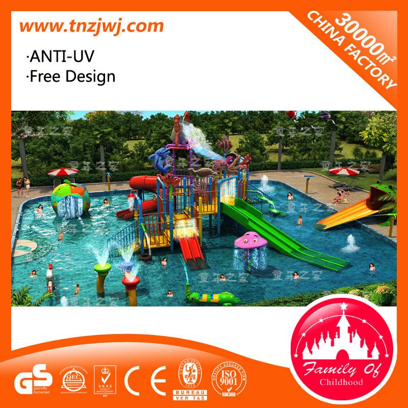 Funny Swimming Pool Playground Equipment Water Slide