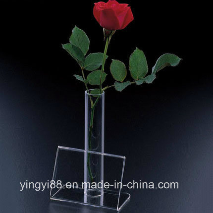 Custom Acrylic Flower Vase Stand with SGS Certificates
