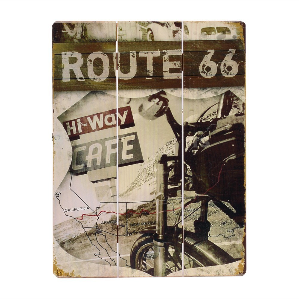 Wholesale Wooden Signs Route 66 Design Wall Decoration