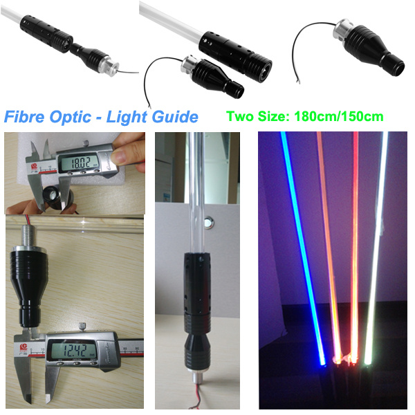 2015 Popular Whips ATV 4ft 5ft 6ft Lighted Flag LED Fiber Optic Light