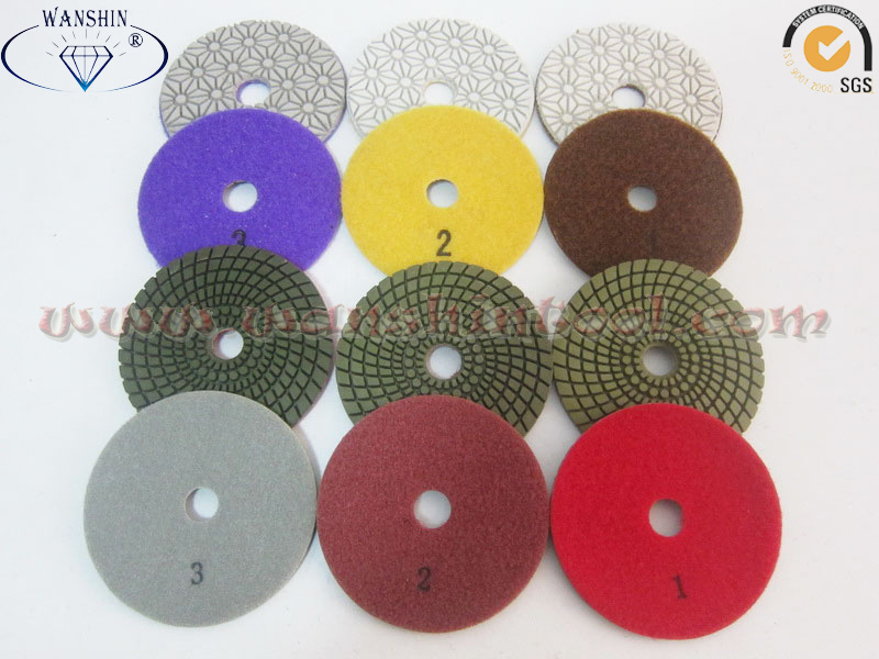 3-Step Diamond Polishing Pads for Granite
