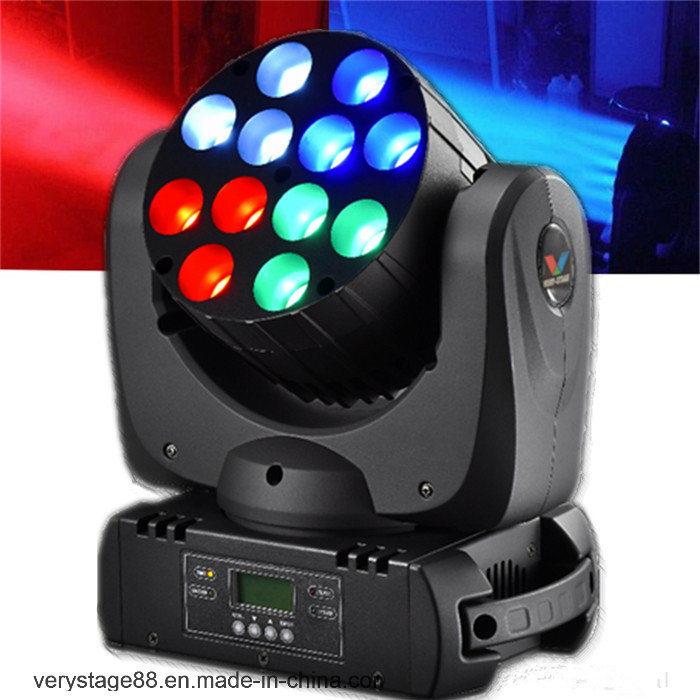 Stage Equipment 12X10W CREE Quad LED Beam Moving Head Light