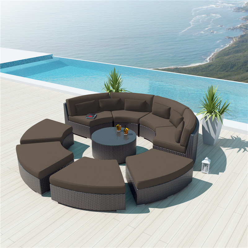 Hot Selling Curved Design Sectional Modular Round Sofa