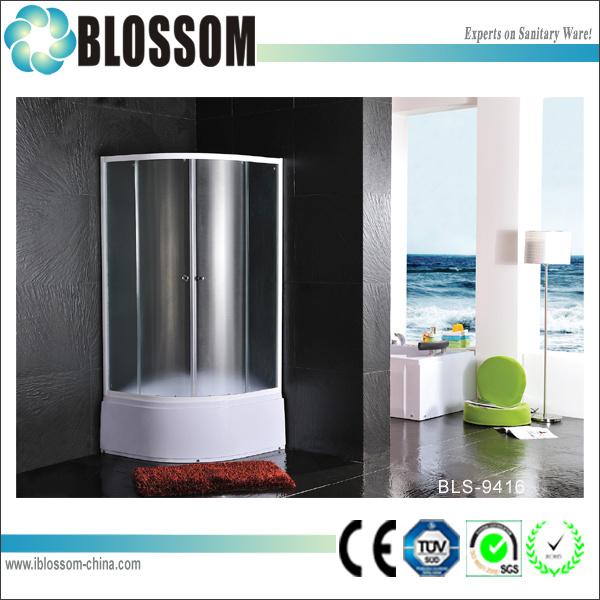 Hangzhou Xiaoshan Matt Glass Simple Shower Room Shower Enclosure (BLS-9416)