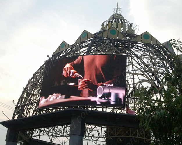 Outdoor Full Color Arc Curved/Flexible LED Video Screen (P5.95, P6.25, P8.928)