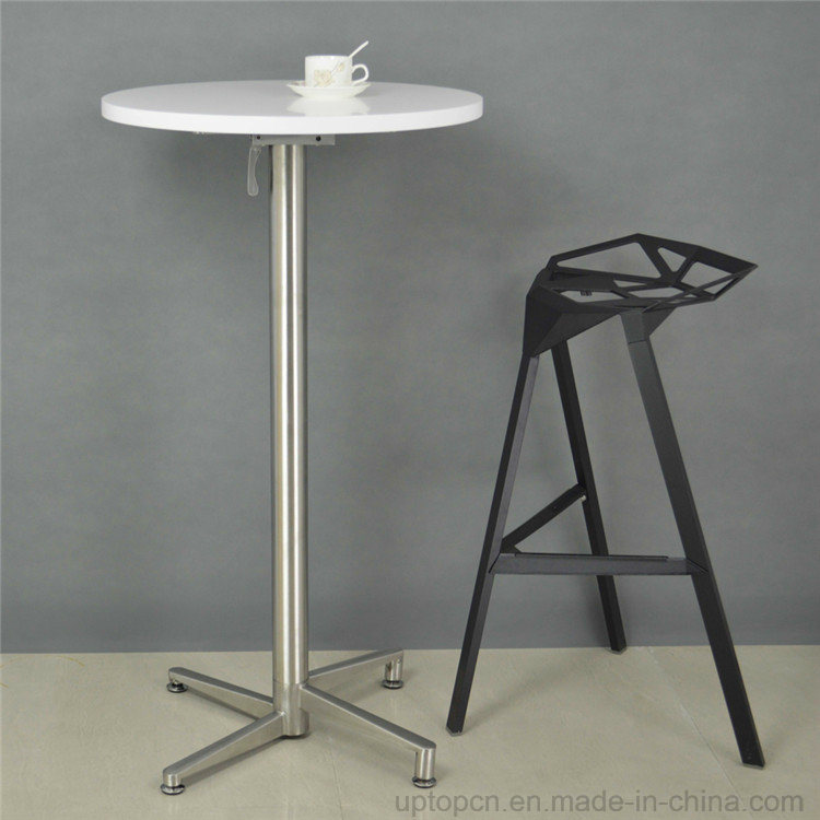 Folding MDF Painting Top Metal Leg Round Bar Table (SP-BT675)