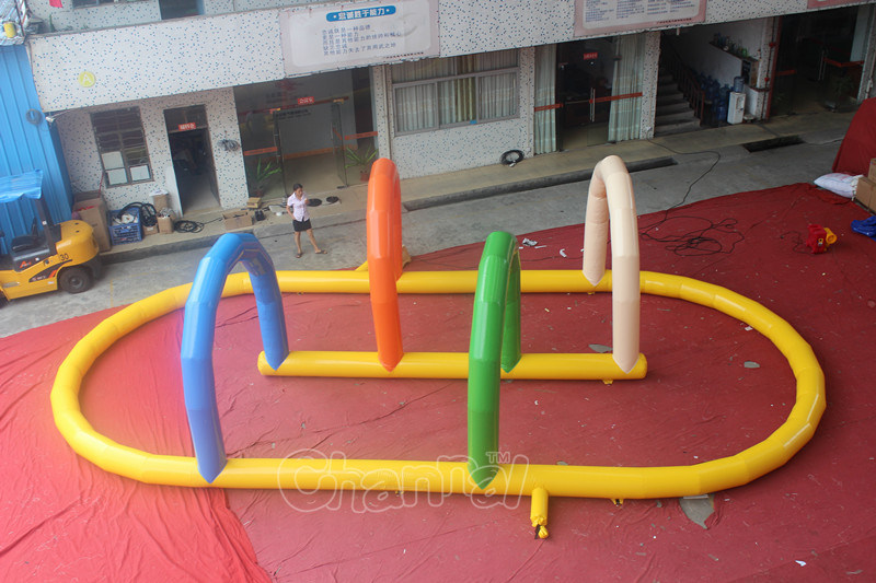 Outdoor Inflatable Air Race Track for Sale/Inflatable Go Karts Race Track (CHSP304S)