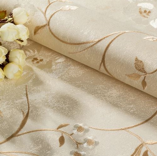Seamless Classic Luxury Embossing Flower Wallpaper Fabric Livingroom Moisture-Proof