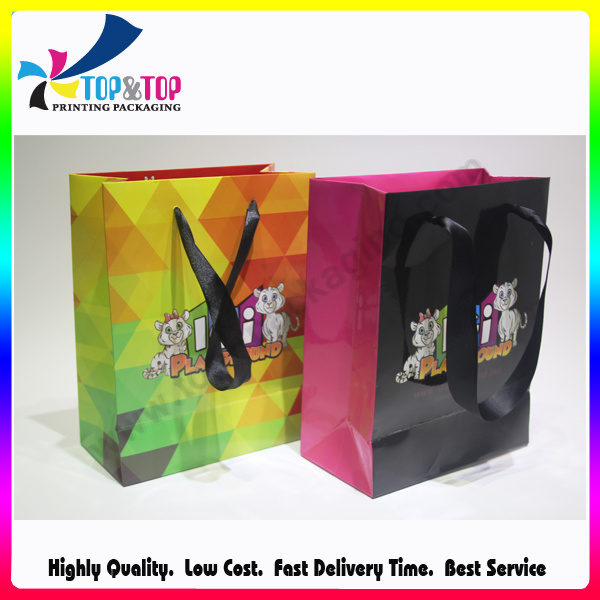 Shenzhen Wholesale Foldable Custom Printed Paper Shopping Bag