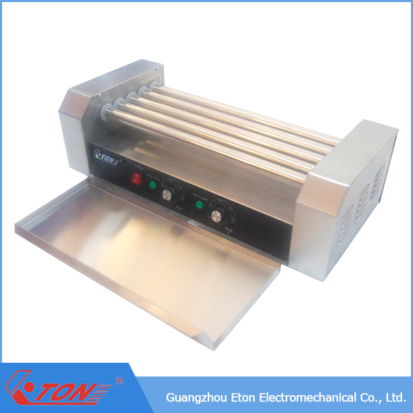 CE Approved Hot Dog Roller with Stainless Steel Glass Cover