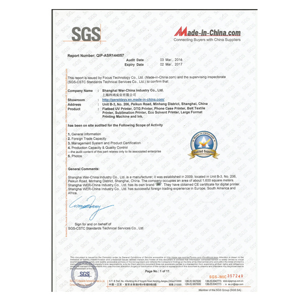 Ce SGS Certificate 1.6m 63inch Dx5 Head Flex Banner Eco Solvent Printer
