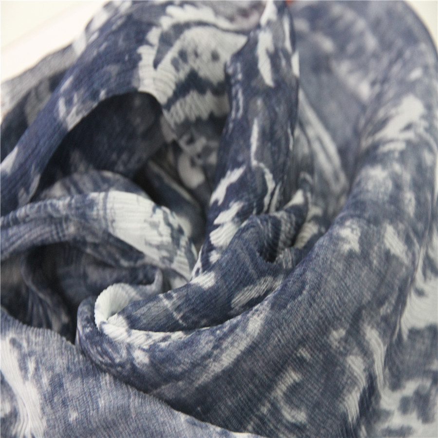 100% Silk 5.5mm Crinkle Georgette with Digital Printing