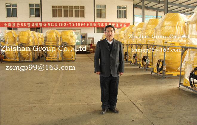 Zhishan Cm500 (CM50-CM800) Portable Electric Gasoline Diesel Concrete Mixer