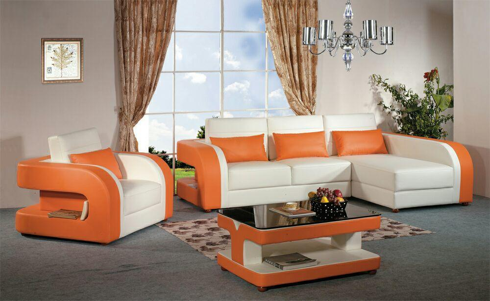 Modern Sofa with Bonded Leather Material