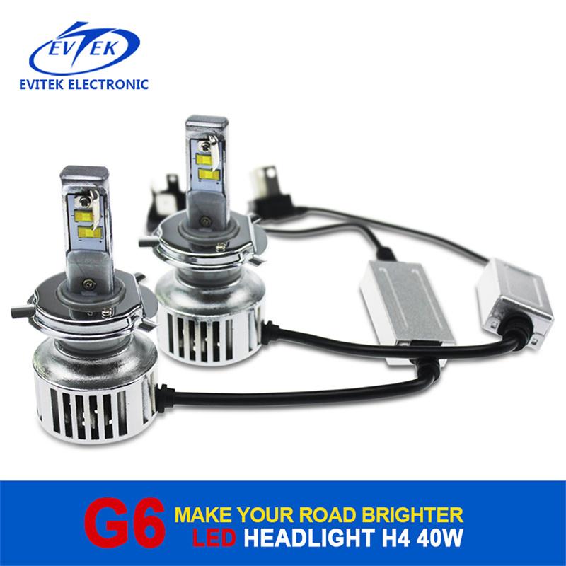 Evitek High Power LED Lighting G6 H4 40W 4500lm LED Headlight for Car/Truck