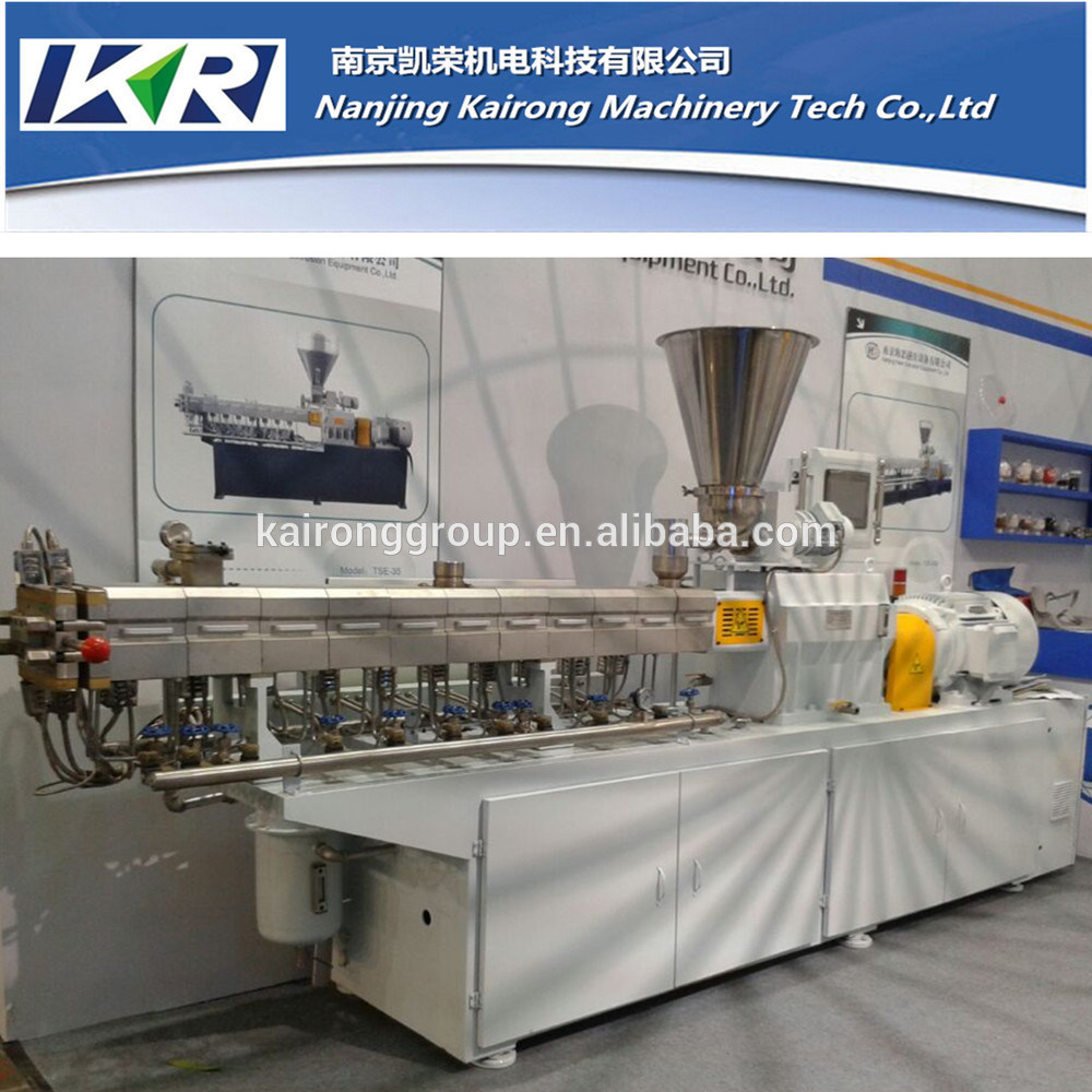 Tse-65 Small Plastic Masterbatch Compound Granulator Parallel Co-Rotating Twin Screw Extruder Price