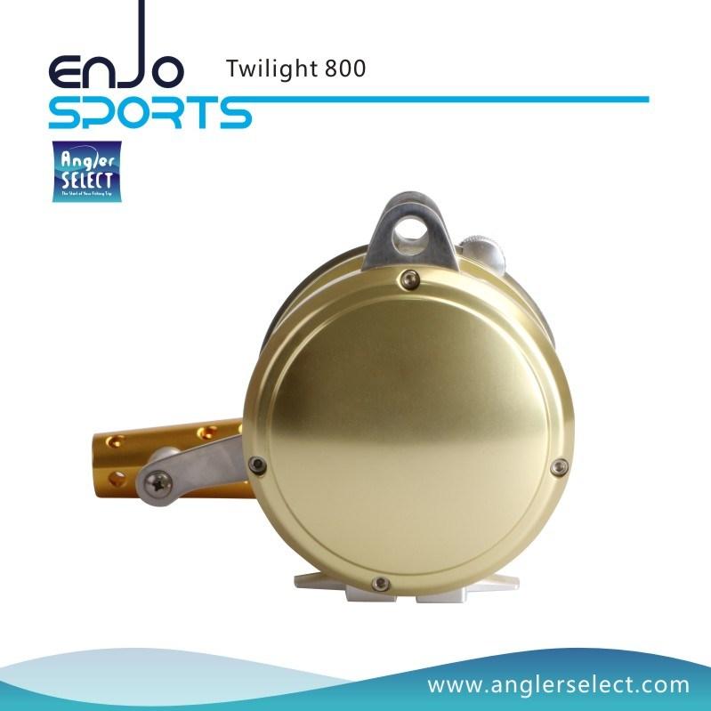 Twilight Sea Fishing Aluminium 8+1 Bearing Sound Alarm Trolling Fishing Tackle Fishing Reel for Marine and Boat (Twilight 800)