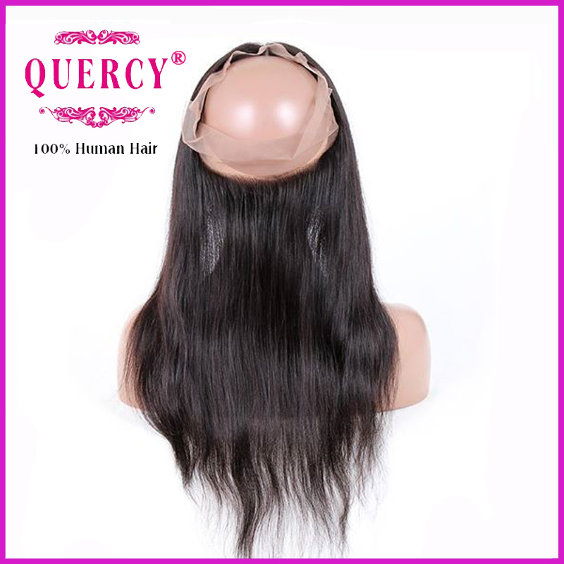 Factory Supply Brazilian Human Hair 22.5 X 4 X 2 Silk Straight 360 Lace Frontal
