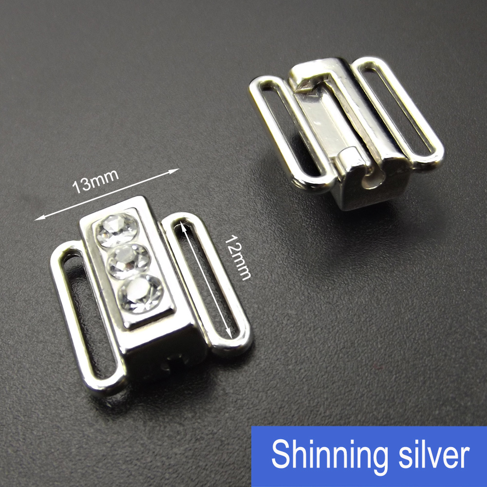 12mm Rhinestone Bra Alloy Metal Clip for Underwear Accessories