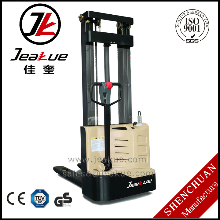2017 Newest High Cost-Effective 1t Walkie Full Electric Stacker