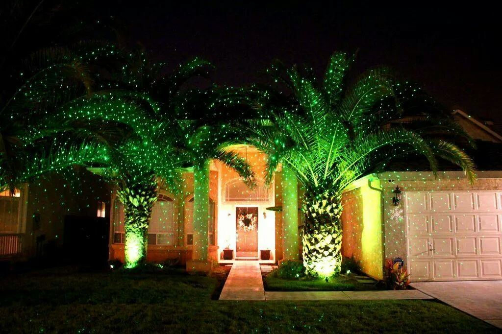 Hot Meteor Shower Laser Light for Outdoor, Christmas Decoration