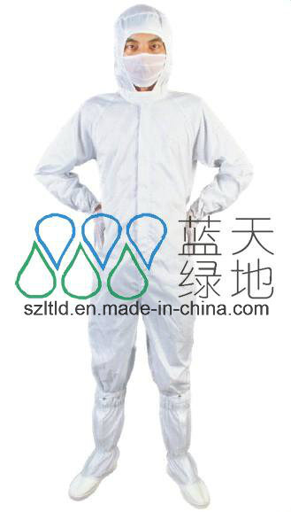 ESD Jumpsuit with Cap-Straight Opening Design