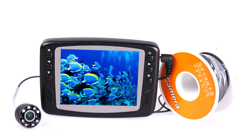 HD 1000 TVL Underwater Fishing Camera CR110-7H with 3.5′′ Digital LCD Screen 8pcs IR LEDs with 15-30m Cable