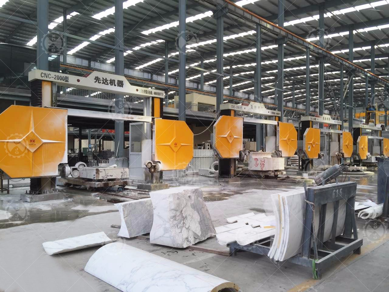 CNC - 2500 Stone Block Wire Saw Cutting Machine