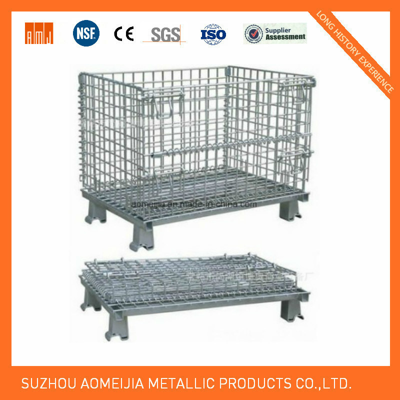 Steel Storage Cages with Wheels, Lockable Storage Cage