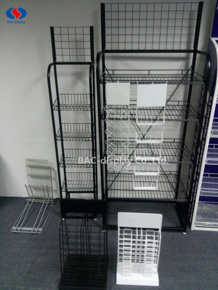 Customized Floor Standing Metal Wire Display Rack